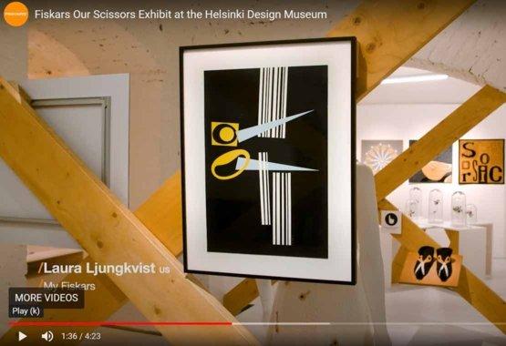 Výstava našich nůžek v Design Muzeu v Helsinkách VIDEO