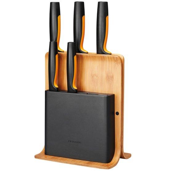 Bambusový blok s pěti noži Functional Form