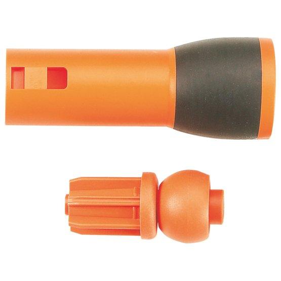 Objímka SoftGrip™ a oranžové zakončení násady s kuličkou pro nůžky UP82